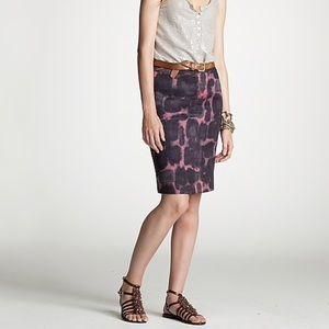 ⬇️J. Crew | Ink Blossom Pencil Skirt